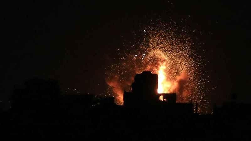 İşgalci İsrail rejiminden Gazze'ye hava saldırısı