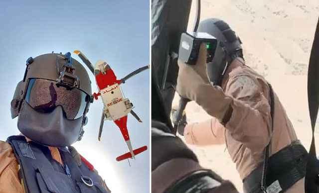 BAE'de çölde kaybolan kişi helikopterle kurtarıldı