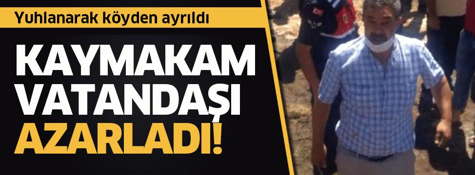 Ilgın Kaymakamı Yunus Fatih Kadiroğlu vatandaşı azarladı!