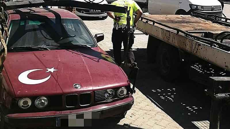 Hurda araca sahte plaka takıp kullanan sürücüye 11 bin TL ceza!