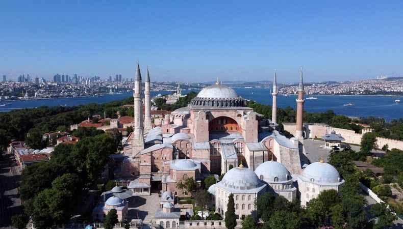 Ayasofya Camii'nde 16 levha yerinde değil