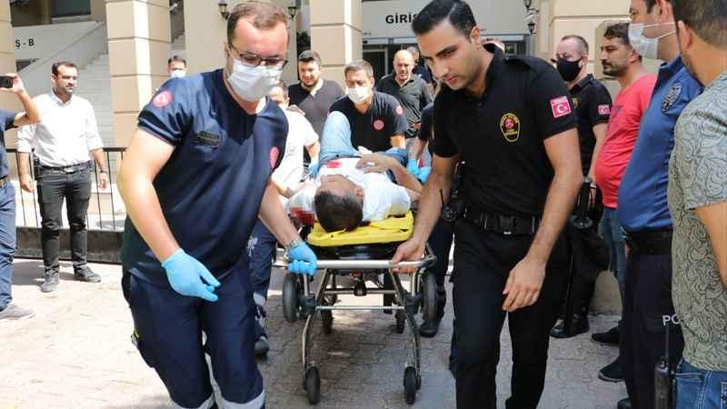 Adliyeye silahlı saldırı: 6 yaralı