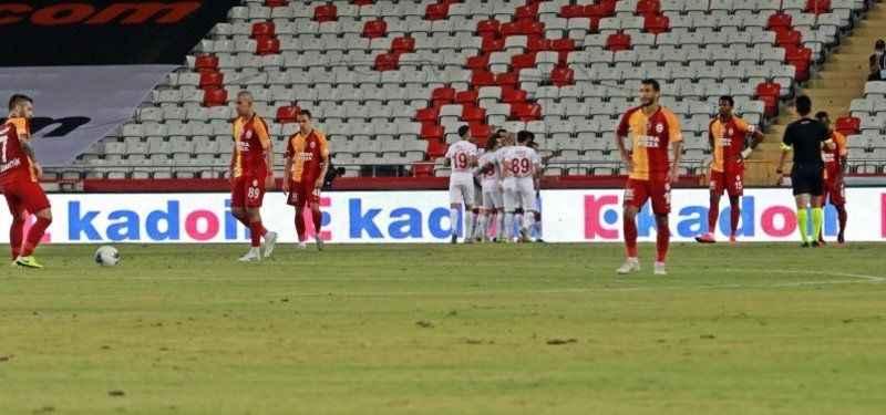 Galatasaray Antalyaspor deplasmanında 3 puanı son anda kaçırdı