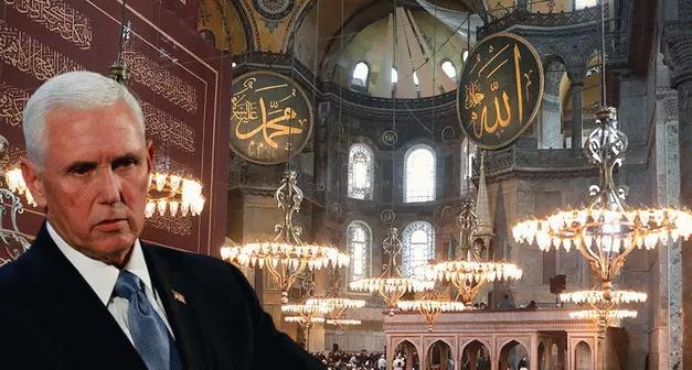 Pence'in Ayasofya mesajına yanıt! Yunanistan'a söyleyebiliyorlar mı?