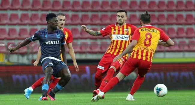 Kayserispor'un çabası yetmedi: Trabzonspor doksanda kazandı
