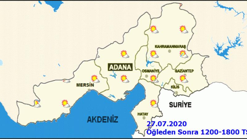 Adana hava durumu! Meteoroloji'den sıcaklık uyarısı