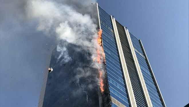 Ankara'da iş merkezinde yangın! Plaza tahliye edildi