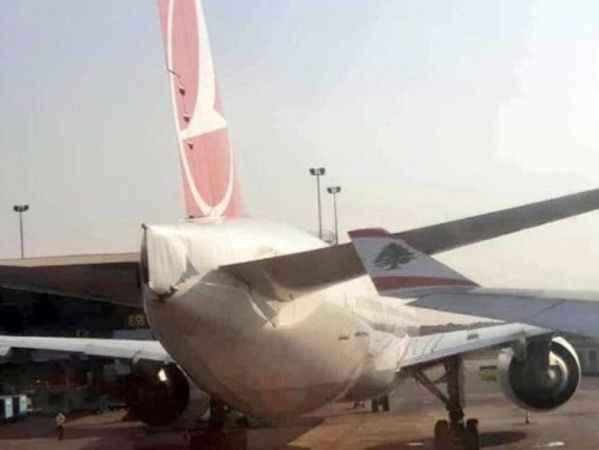 Havalimanında korkutan kaza! Lübnan uçağı THY uçağına çarptı...