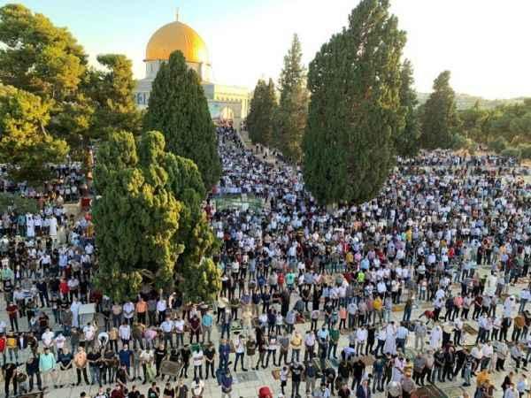 Mescid-i Aksa'da Kurban Bayramı namazı kılındı