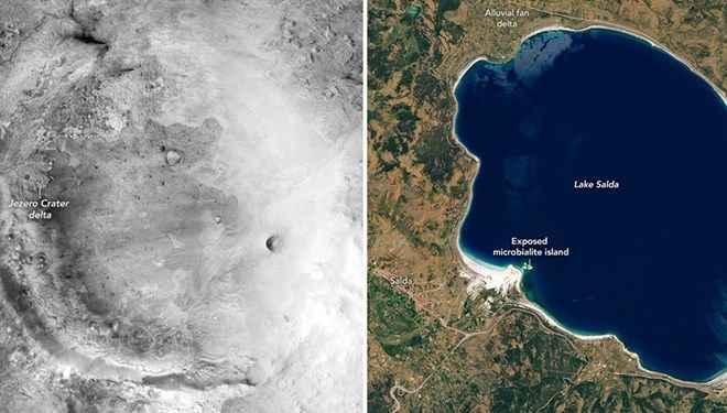 NASA'dan Salda Gölü paylaşımı: Mars'taki kratere benziyor