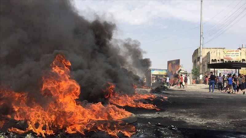 Halepçe'de göstericiler hükümet binalarını ateşe verdi