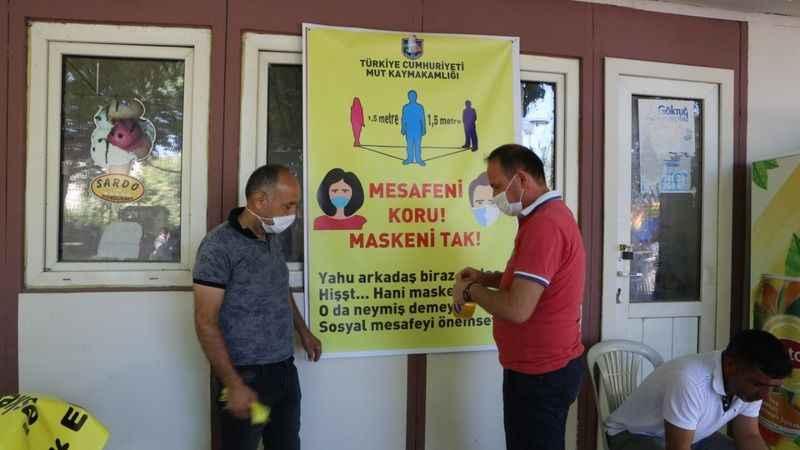 Mersin'de yerel şiveli sosyal mesafe ve maske uyarısı gülümsetti!