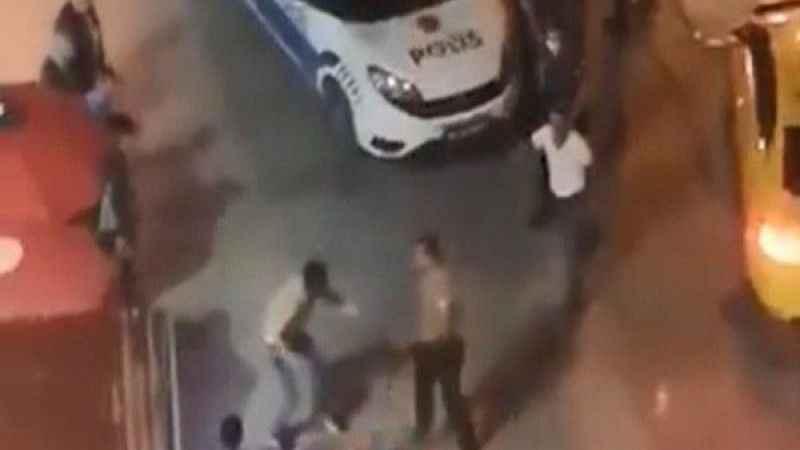 Tekirdağ'da bir şahıs kavgayı ayıran polisi darp etti!