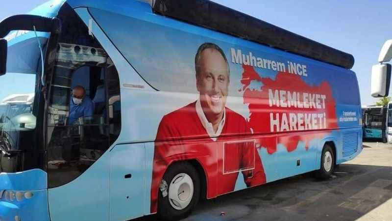Muharrem İnce'nin otobüsü hazır! Yola çıkıyor