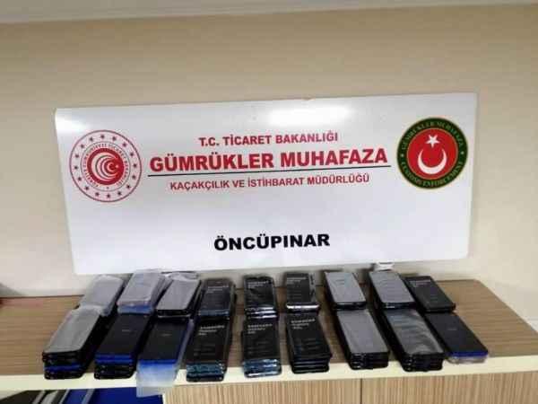 Sınırda 118 adet kaçak cep telefonu yakalandı