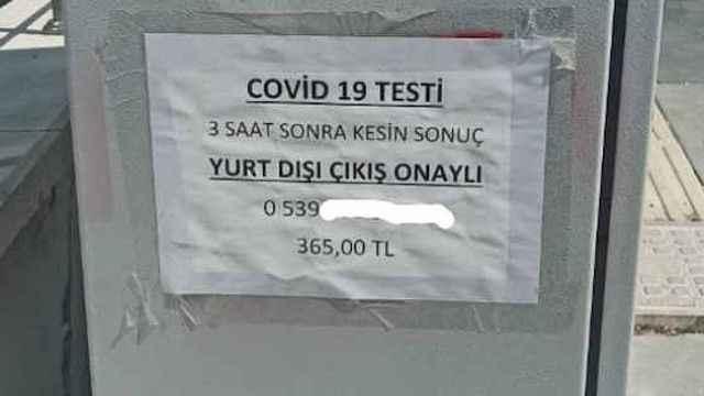 Koronavirüs testleri sokak ilanlarında! 3 satte kesin sonuç