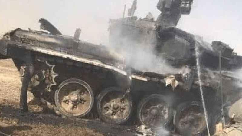 Rusya'da eğitim sırasında askeri tank yandı