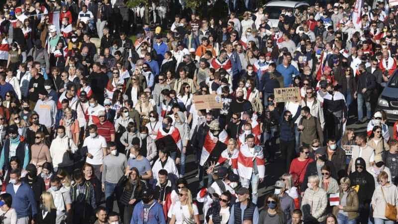 Belarus'ta Cumhurbaşkanlığı seçimlerine karşı protestolar devam etti