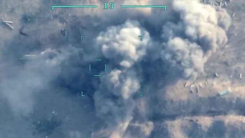 Ermenistan ordusunun konuşlandığı bölgelerden dumanlar yükseliyor