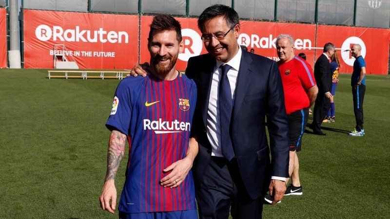 """Barcelona Başkanından itiraf: """"Messi'yi kalması için zorlamadım"""""""