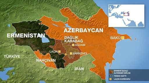 Dağlık Karabağ'da uçuş yasağı ilan edildi