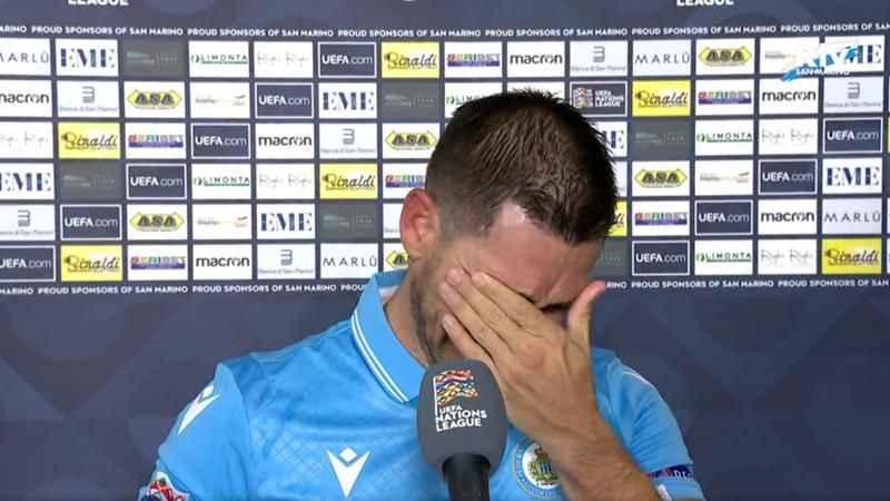 San Marinolu oyuncu yenilmeyince gözyaşlarını tutamadı