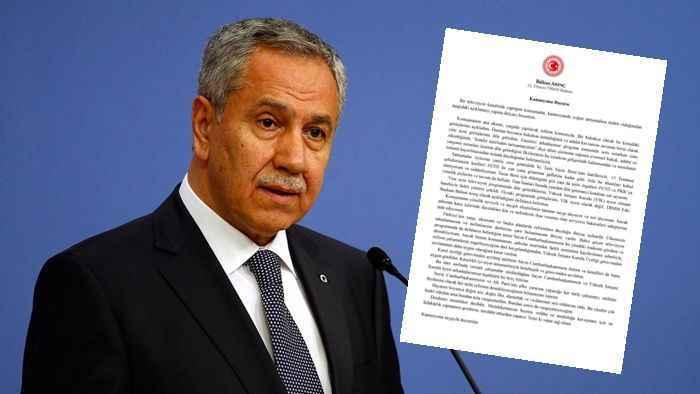 Bülent Arınç neden istifa etti? Bülent Arınç istifa açıklaması - Son dakika  haberler