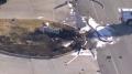 ABD'de ilginç kaza! Otoyolda sürüklenen uçakta 2 kişi öldü!