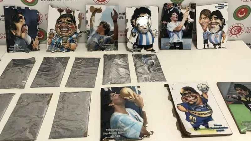 İstanbul'da Maradona tablosuna gizlenmiş kokain!