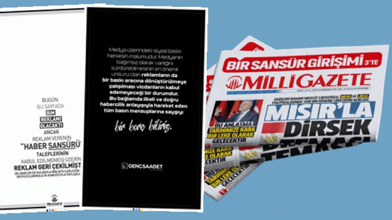 Saadet Partisi İstanbul Gençlik Kollarından BİM'e gazete ilanıyla tepki