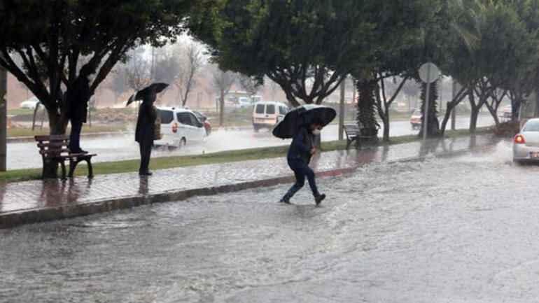 Antalya hava durumu! Meteoroloji'den Antalya'ya sağanak uyarısı geldi