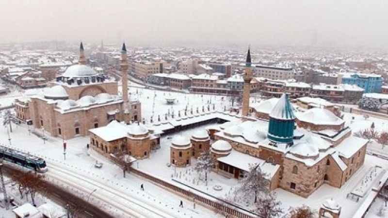 Konya hava durumu! Konya'ya kar ve yağmur uyarısı (16 Ocak)