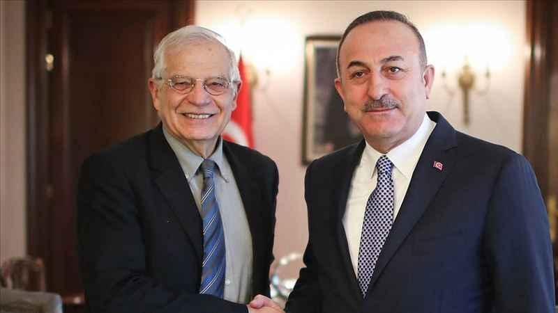 Çavuşoğlu Borrell ile görüştü! Doğu Akdeniz'de gerginlik azalmalı