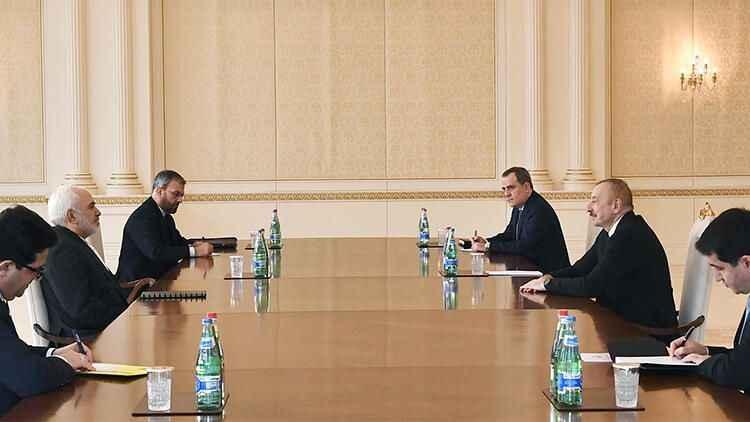 Aliyev-Zarif bir araya geldi! Aliyev'den üçlü zirve önerisi