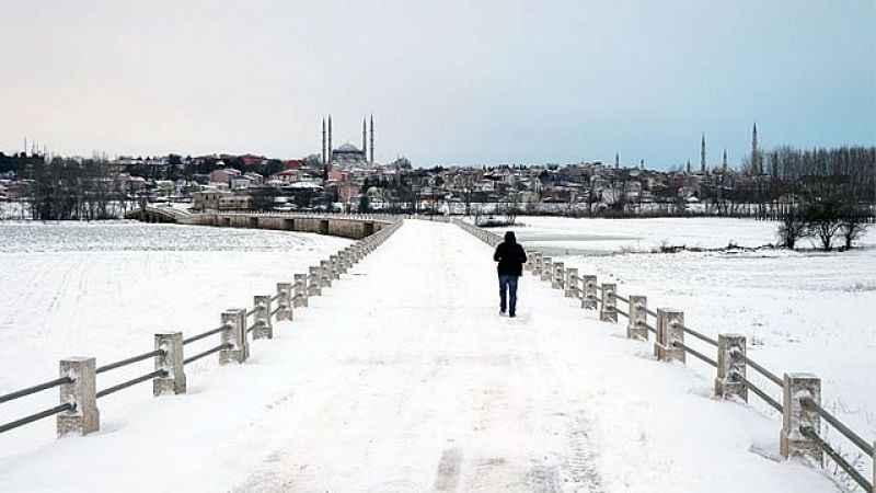 Edirne hava durumu! Edirne'ye kar uyarısı geldi (26 Ocak)