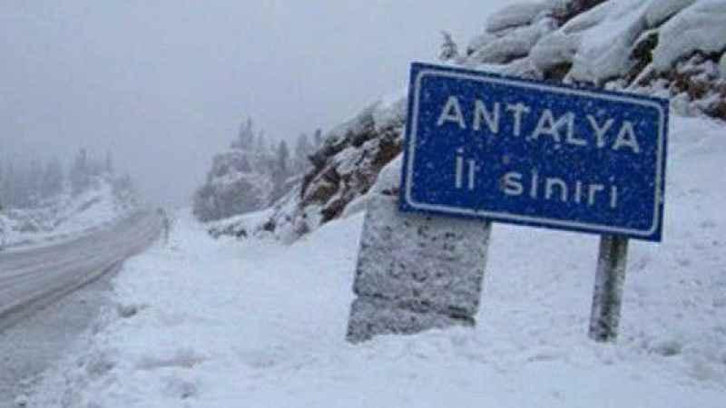 Antalya hava durumu! Antalya'ya kar ve yağmur uyarısı (28 Ocak)
