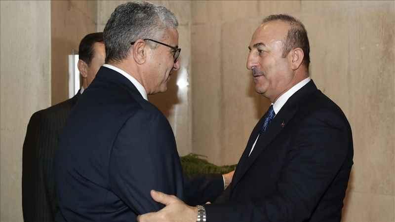 Bakan Çavuşoğlu Libya İçişleri Bakanı Başağa ile görüştü