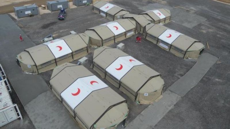 TSK İdlib'de sahra hastanesi kurdu