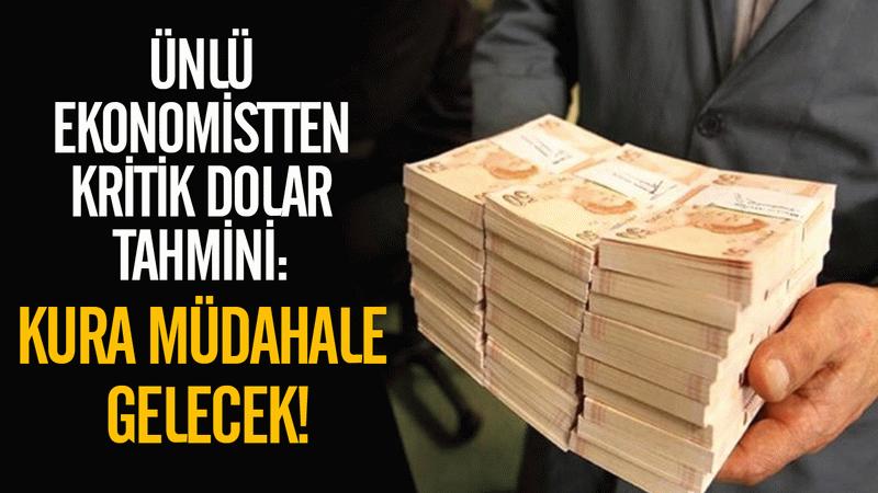 Ünlü ekonomistten kritik dolar tahmini: Dolar kuruna müdahale gelecek