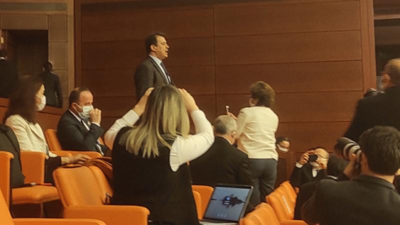 AK Partili eski milletvekilinden Meclis'te Gergerlioğlu protestosu