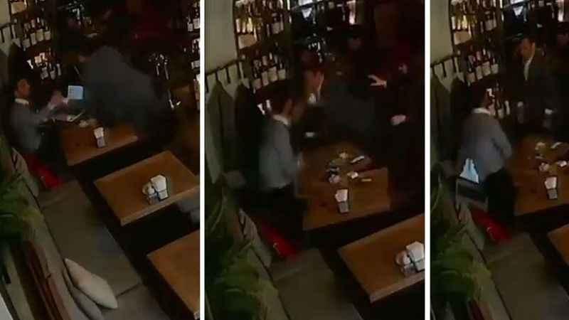 Ermeni Bakan gazeteciyi dövdü! Saldırı anbean kaydedildi