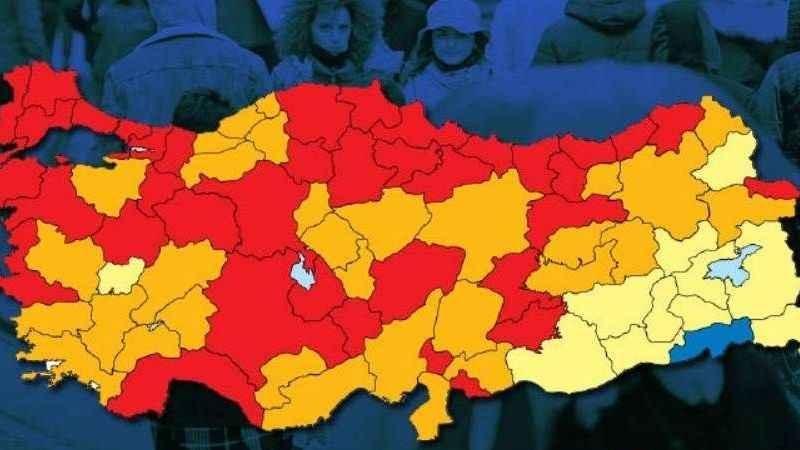 Risk haritasında 7 günde 14 il daha kırmızıya döndü! Tek mavi il...