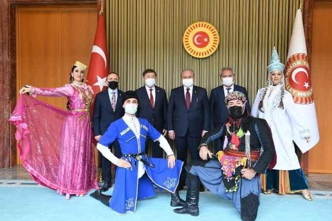 TBMM Başkanı Mustafa Şentop, TÜRKSOY heyetini ağırladı