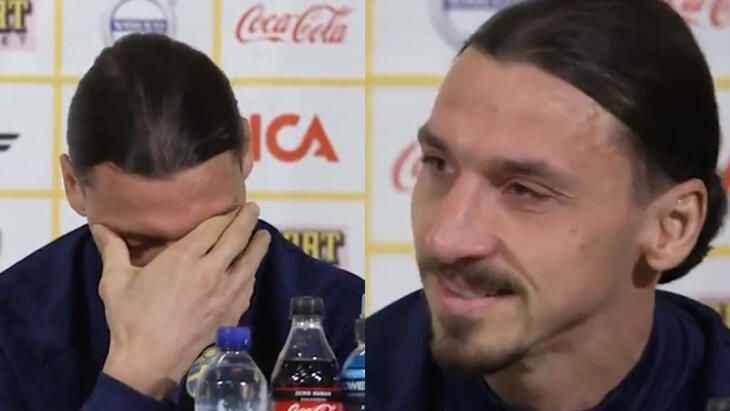Zlatan Ibrahimovic gözyaşlarını tutamadı