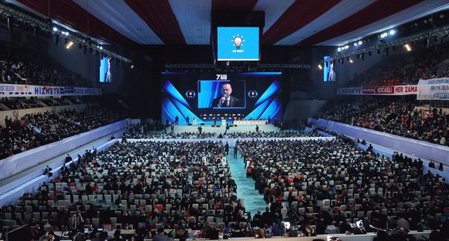 AK Parti kongresine 11 siyasi partinin temsilcileri katıldı