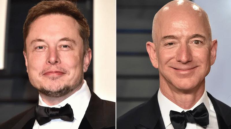 Jeff Bezos ve Elon Musk'ın fotoğrafı sosyal medyada gündem oldu
