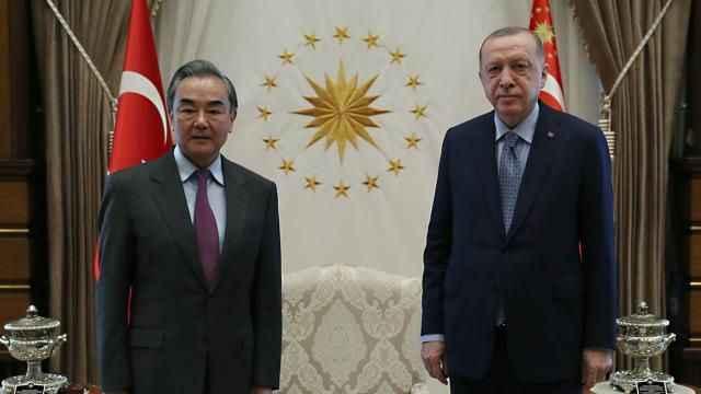 Cumhurbaşkanı Erdoğan, Çin Dışişleri Bakanı Wang Yi'yi kabul etti