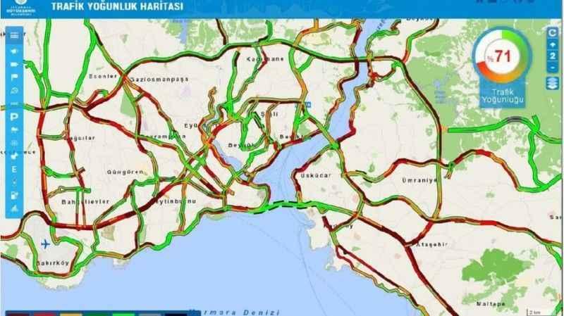 İstanbul'da bir cumartesi klasiği! İşte trafik yoğunluğu...