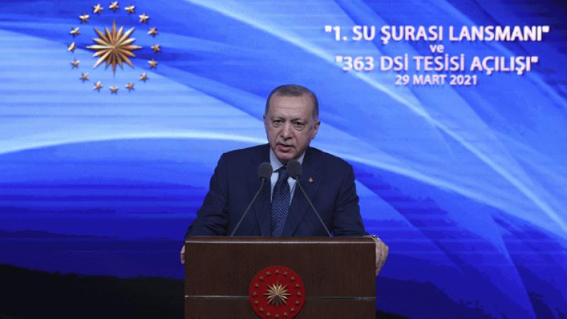 Cumhurbaşkanı Erdoğan: Su zengini bir ülke de değiliz