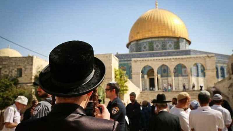 Mescid-i Aksa'ya baskın! Yüzlerce Yahudi Harem-i Şerif'e girdi